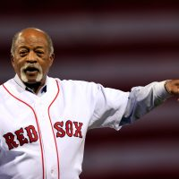 Former Boston Red Sox player Luis Tiant before Game One of the 2013 World Series at Fenway Park. (Jamie Squire/Getty Images)