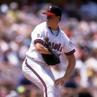 Jim Abbott began his MLB career with the California Angels.  (Stephen Dunn/Getty Images)