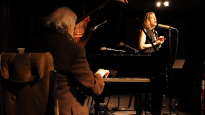 Pianist Ran Blake and vocalist Dominique Eade. (Courtesy Jason Rogers)