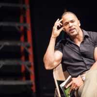 "Keith Hamilton Cobb in his play, ""American Moor."" (Courtesy ""American Moor"")"