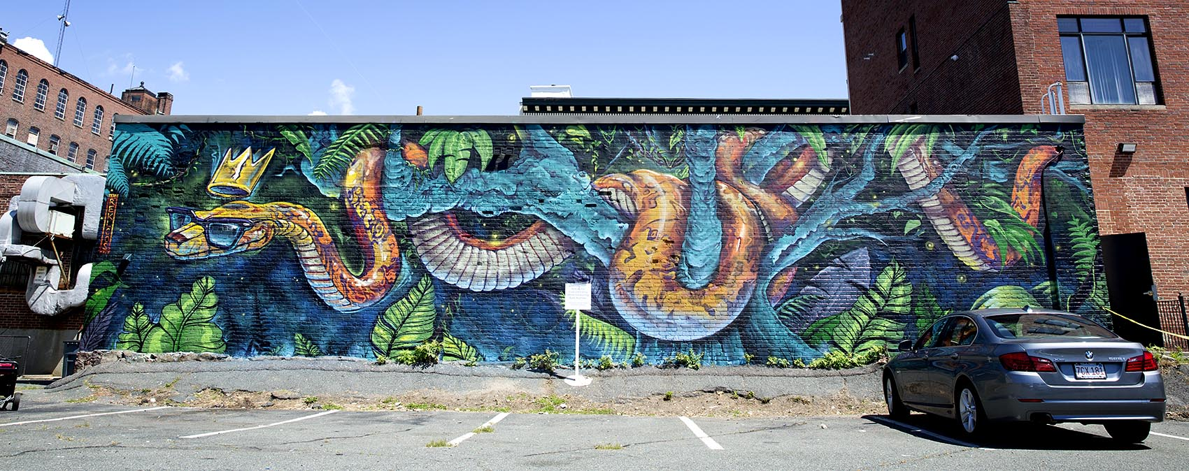 take a look at 15 new murals splashed on downtown lynn s brick team rekloos mural near spring street