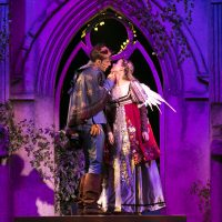 John Zdrojeski as Romeo and Gracyn Mix as Juliet in this year's production of Shakespeare on the Common. (Courtesy Evgenia Eliseeva)