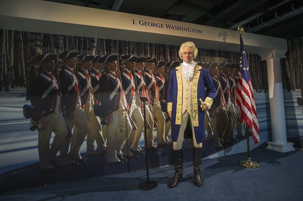 Waxing presidential again: from George Washington ... (Jesse Costa/WBUR)
