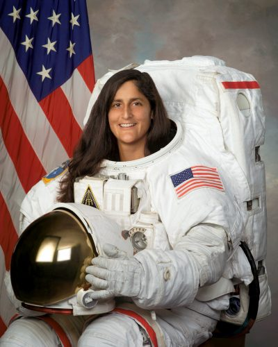 In this 2004 photo provided by NASA, astronaut Sunita Williams poses for a photo. (NASA via AP)