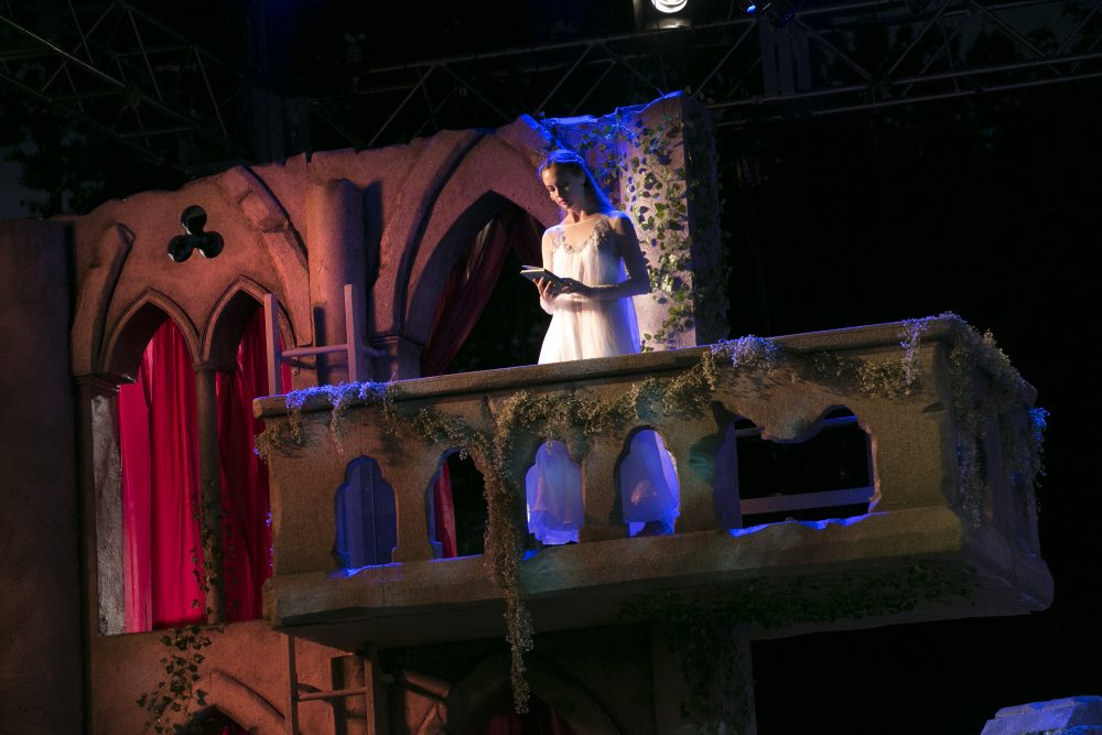 "Gracyn Mix as Juliet in Commonwealth Shakespeare Company's production of ""Romeo and Juliet."" (Courtesy Evgenia Eliseeva)"