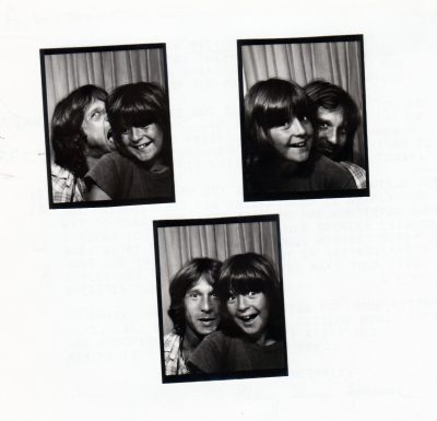 Lou Cove and Howie Gordon photobooth pictures from 1978. (Courtesy Lou Cove)