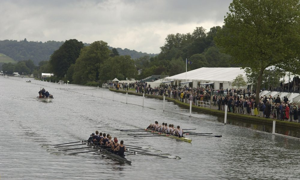 Yale rowers in the lead at 2002's Henley Regatta. Danzinger could only dreaming of competing there. (Julian Herbert/Getty Images)