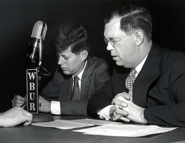 John F. Kennedy, then a U.S. senator, in a 1951 interview with WBUR.