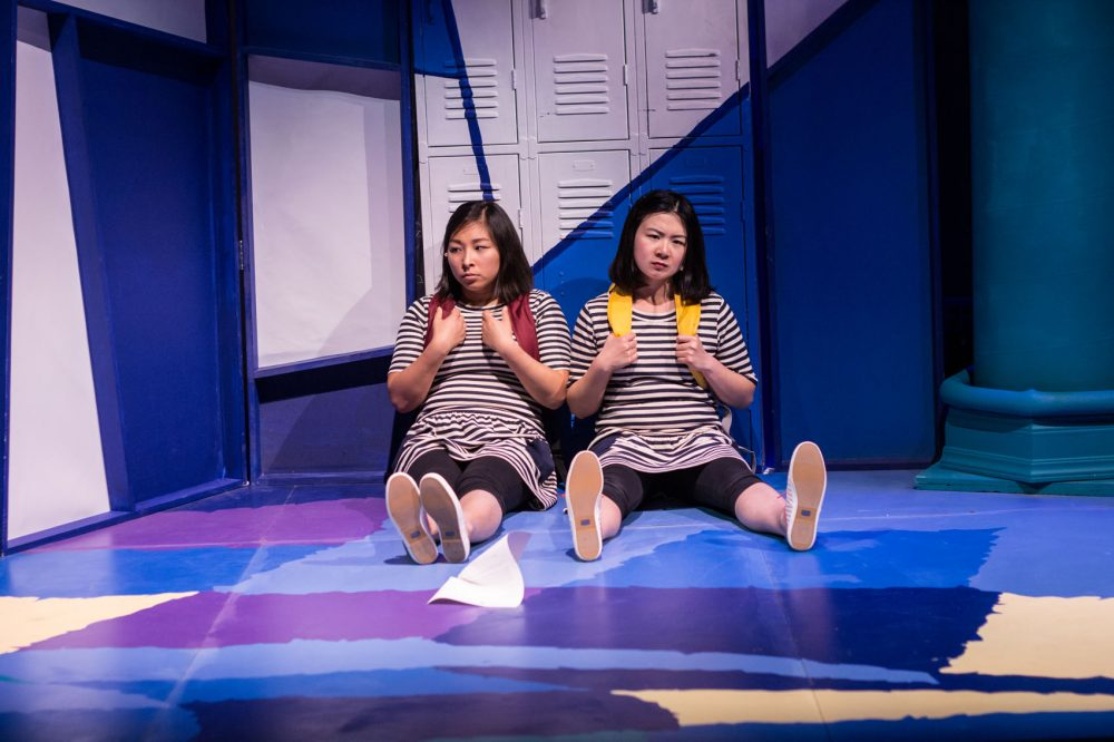 "Kim Klasner and Khloe Alice Lin in Company One's production of ""peerless,"" a pay-what-you-can production. (Courtesy Paul Fox/Company One)"