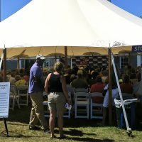 A previous year's festival. (Courtesy Martha's Vineyard Book Festival)