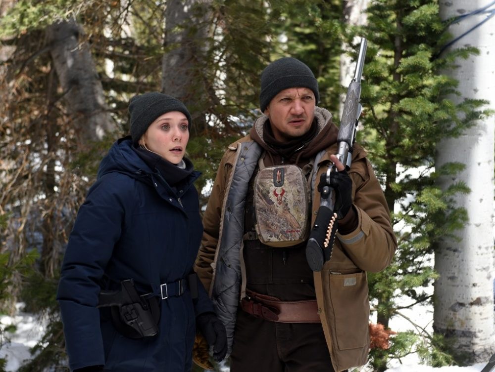 Elizabeth Olsen as FBI agent Jane Banner and Jeremy Renner as Cory Lambert. (Courtesy Fred Hayes/The Weinstein Company)