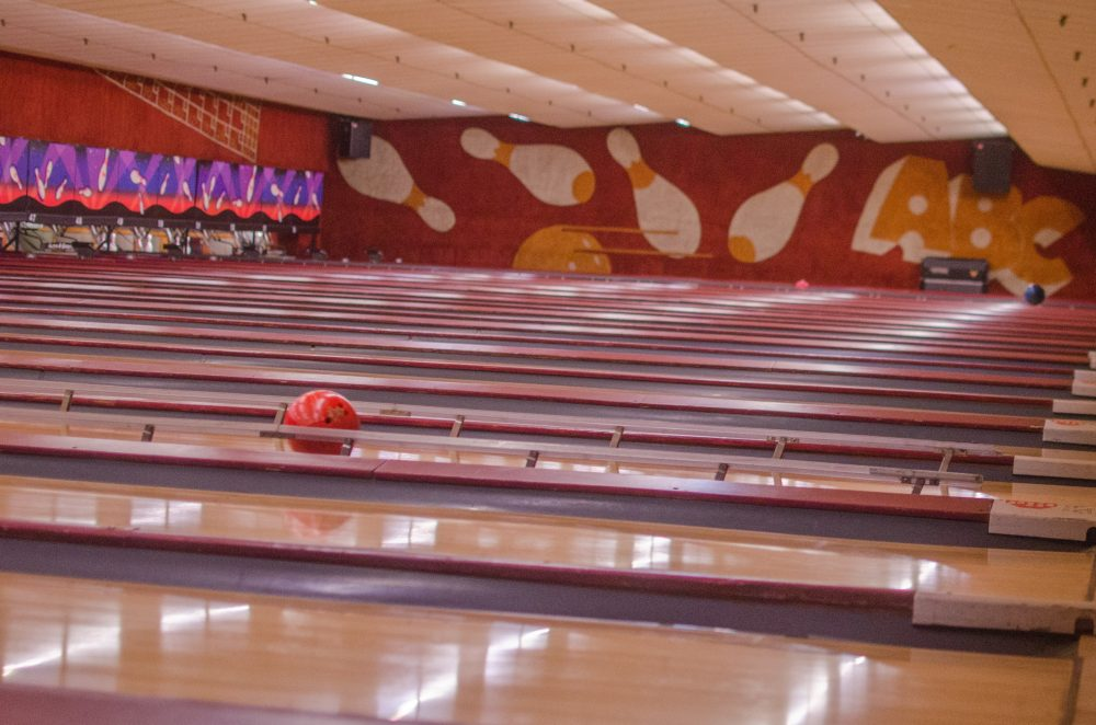 On Sunday, august 13, Lanes and Games offers one last chance for strikes, spares and gutter balls before changing from a destination to a memory. (Sharon Brody/WBUR)