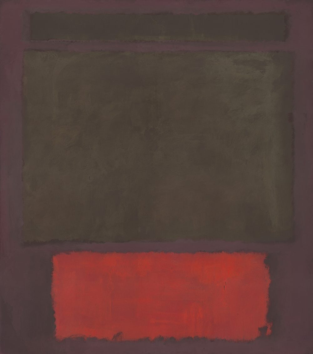 "Mark Rothko's ""No. 1,"" painted in 1961 with oil and acrylic on canvas. (Courtesy National Gallery of Art, D.C.; Mark Rothko Foundation; Museum of Fine Arts, Boston)"