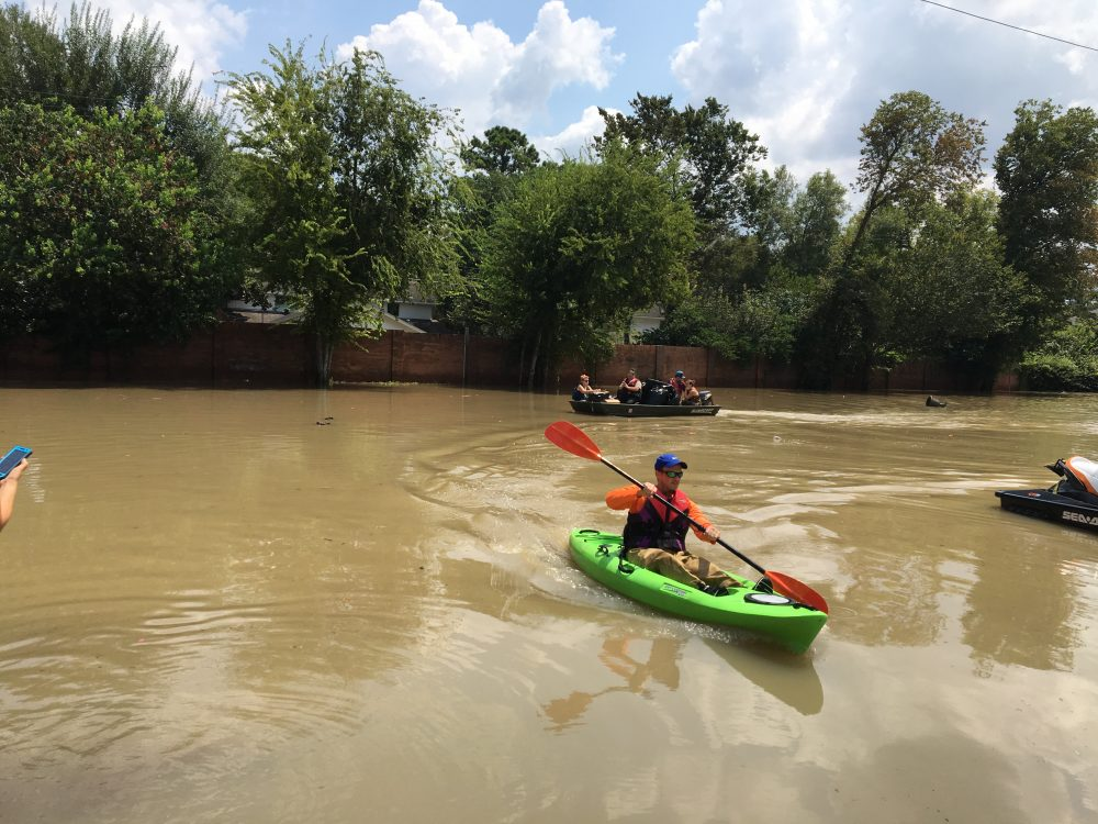 With Some Homes Still Under Water Houston Residents Deal With Harvey S Aftermath Wbur News