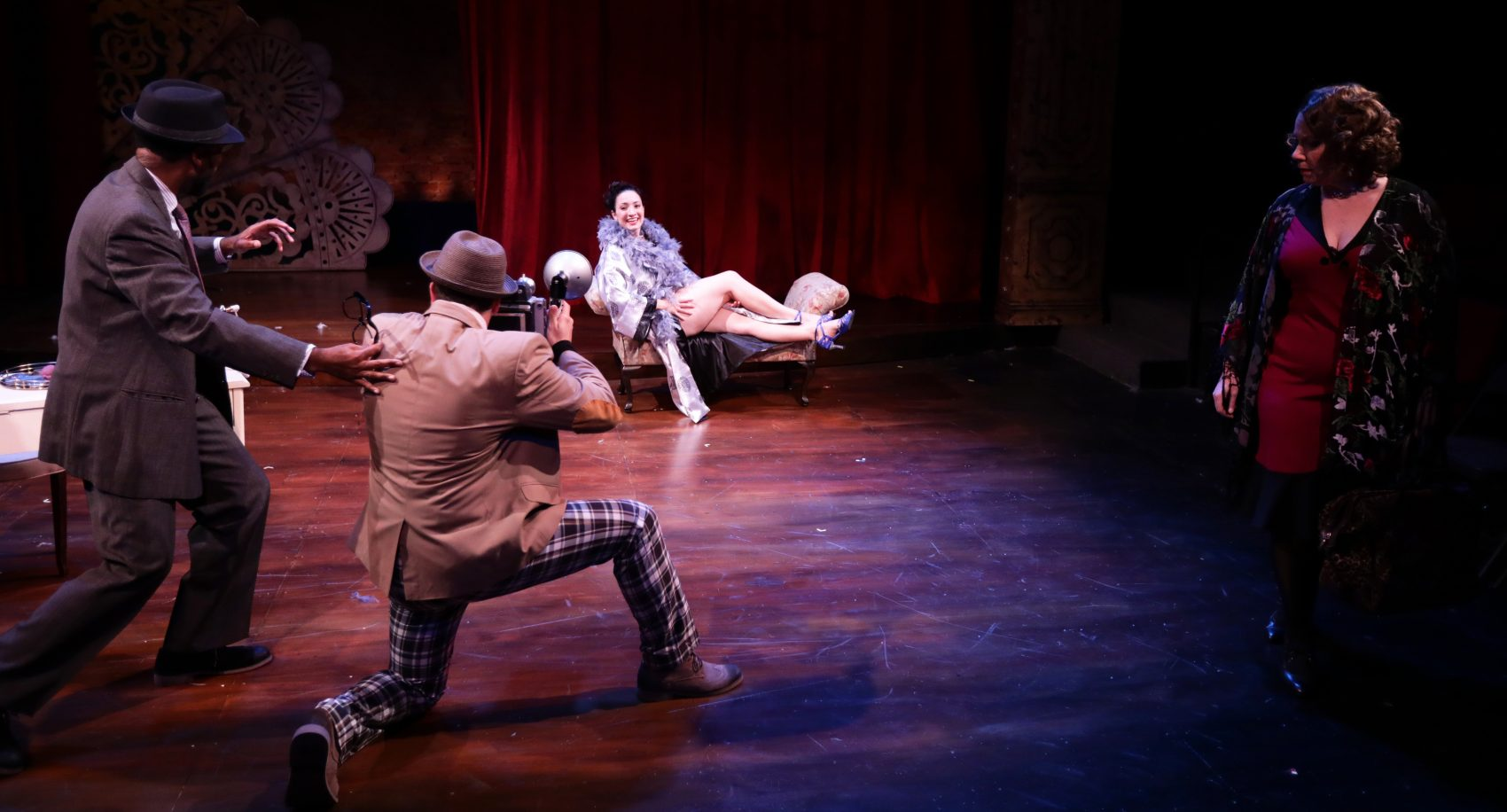 "Davron S. Monroe, David Alea, Kirsten Salpini and Leigh Barrett in ""Gypsy."" (Courtesy Mark S. Howard/Lyric Stage Company)"