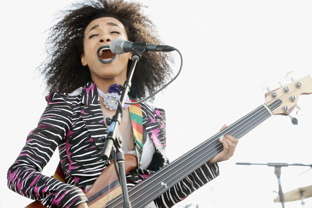 Musician Esperanza Spalding performs on stage at The 12th Annual Jazz In The Gardens Music Festival at Hard Rock Stadium on March 19, 2017 in Miami Gardens, Fla.  (Mychal Watts/Getty Images for Jazz in The Gardens Music Festival)