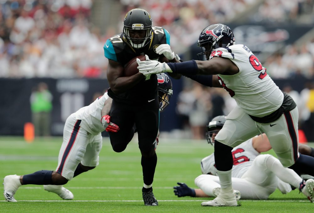 Jacksonville Jaguars rookie Leonard Fournette is just one of the NFL running backs who put up big numbers in Week 1. (Tim Warner/Getty Images)