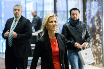 American radio talk show host Laura Ingraham arrives for a meeting with then-President-elect Trump at Trump Tower on Dec. 6, 2016 in New York. (Eduardo Munoz Alvarez/AFP/Getty Images)