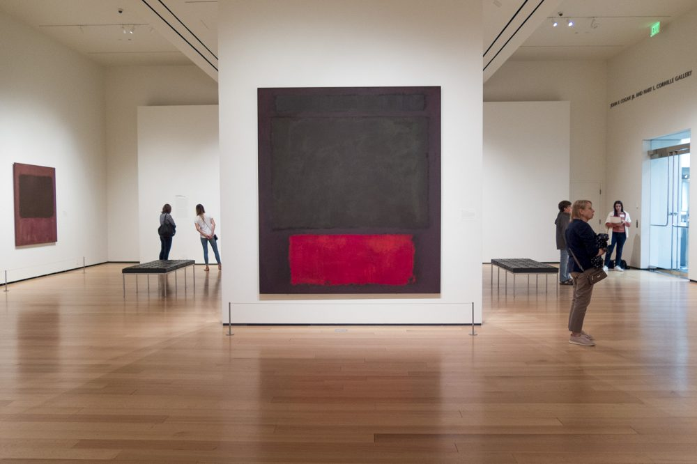 "Mark Rothko's ""No. 1"" at the MFA. (Andrea Shea/WBUR)"