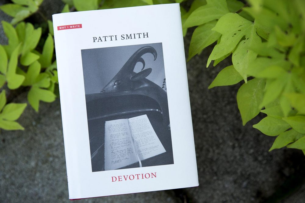 "Patti Smith's latest book ""Devotion."" (Robin Lubbock/WBUR)"