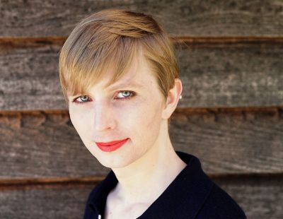 The first photograph of Chelsea Manning after her release. (Wikimedia Commons)