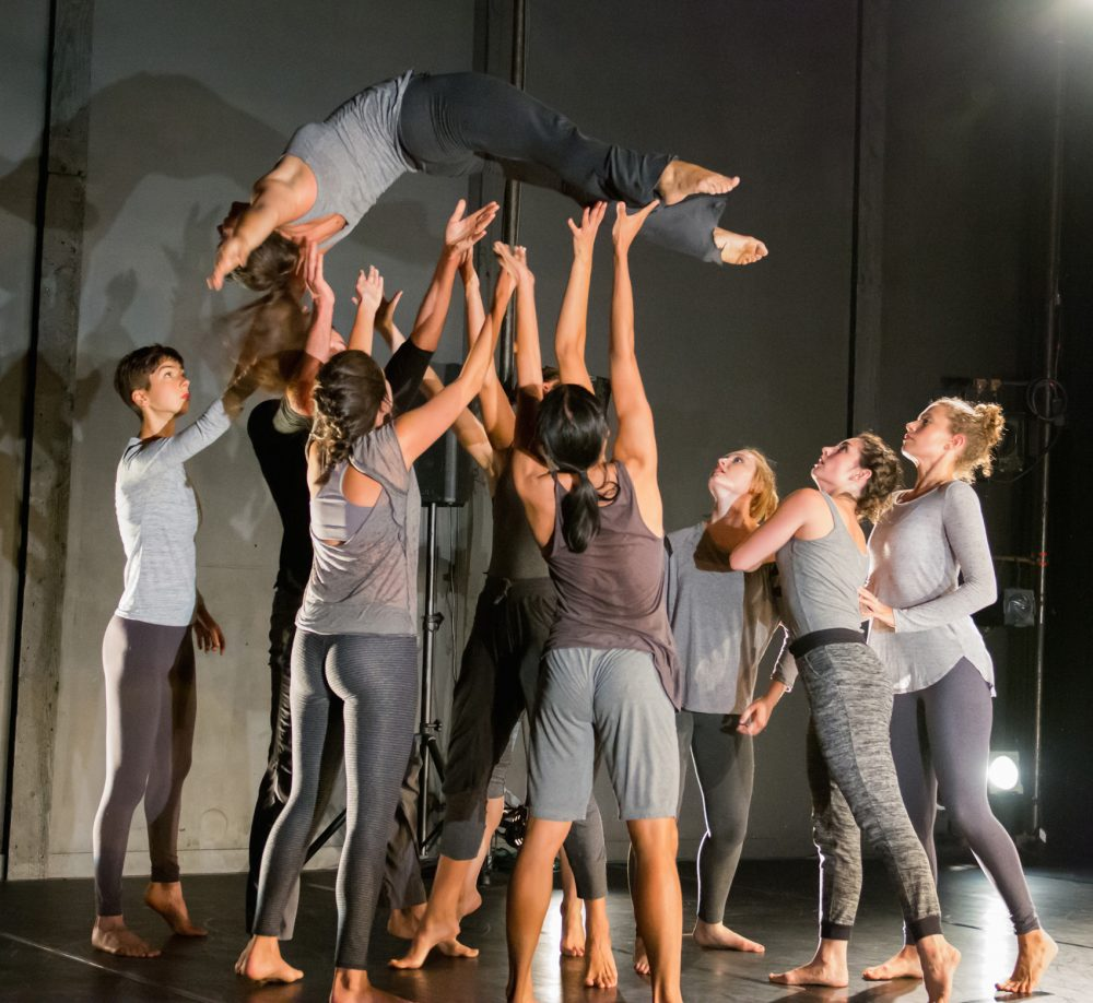 "Dancers from The Yard, whose choreographer Heather Theresa Clark presents ""The Barge Project"" this weekend. (Courtesy Woods Hole Research Center)"