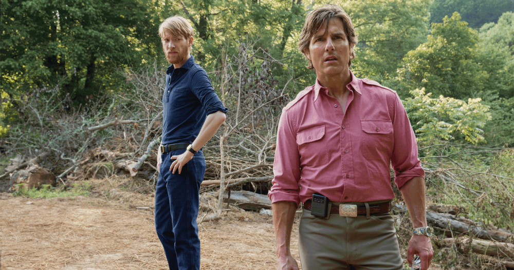 "Domhnall Gleeson and Tom Cruise in ""American Made."" (Courtesy Universal Pictures)"