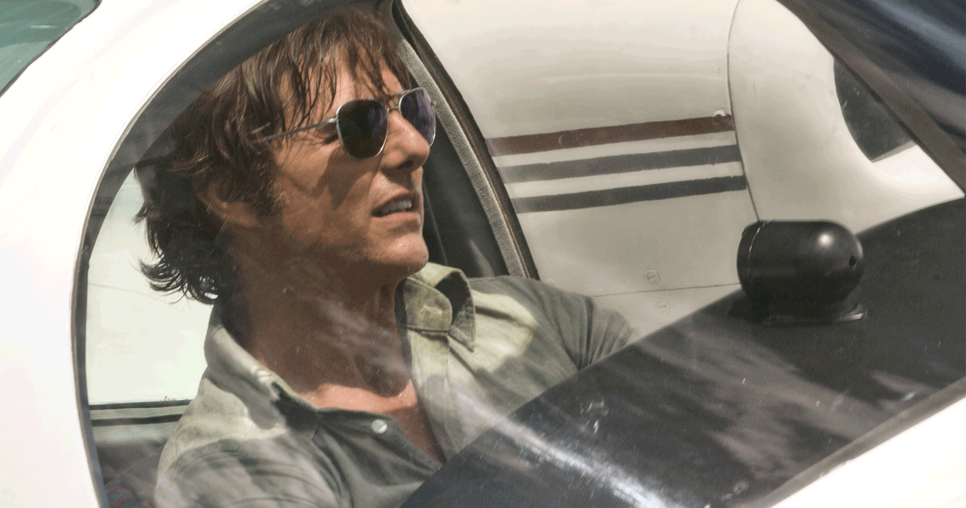 "Tom Cruise as Barry Seal in the film ""American Made."" (Courtesy Universal Pictures)"