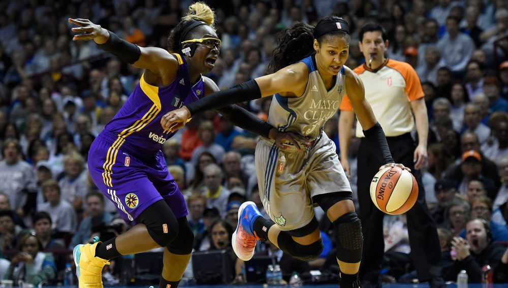 The WNBA has seen two consecutive Finals showdowns between two Western Conference teams: the Los Angeles Sparks and the Minnesota Lynx. (Hannah Foslien/Getty Images)