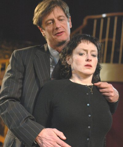 "Ken Cheeseman and Paula Langton in the Actors' Shakespeare Project production of ""Measure for Measure"" from the 2004-'05 season. (Courtesy Stratton McCrady)"