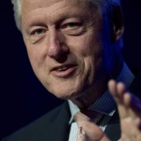 Former President Bill Clinton gives the opening address to kick off a meeting of International Aid Groups at the InterAction Forum 2017 at the Washington Convention Center, Tuesday, June 20, 2017, in Washington. (AP Photo/Andrew Harnik)