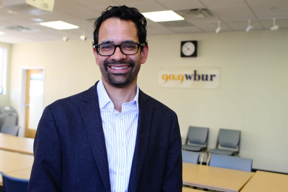 Harvard professor and MacArthur Genius fellow Sunil Amrith (Liz Gillis/WBUR)