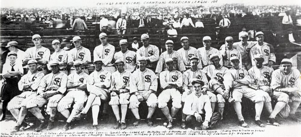 The 1919 Chicago Black Sox team. (Courtesy of the National Baseball Hall of Fame Library, Cooperstown, N.Y.)