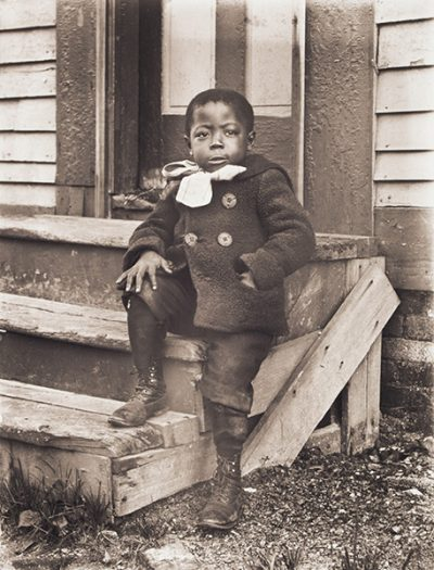William Bullard's portrait of 5-year-old Ralph Mendis on a stoop. (Courtesy Frank Morrill)
