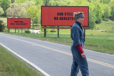 "Frances McDormand in ""Three Billboards Outside Ebbing, Missouri."" (Courtesy Merrick Morton/Fox Searchlight Pictures)"