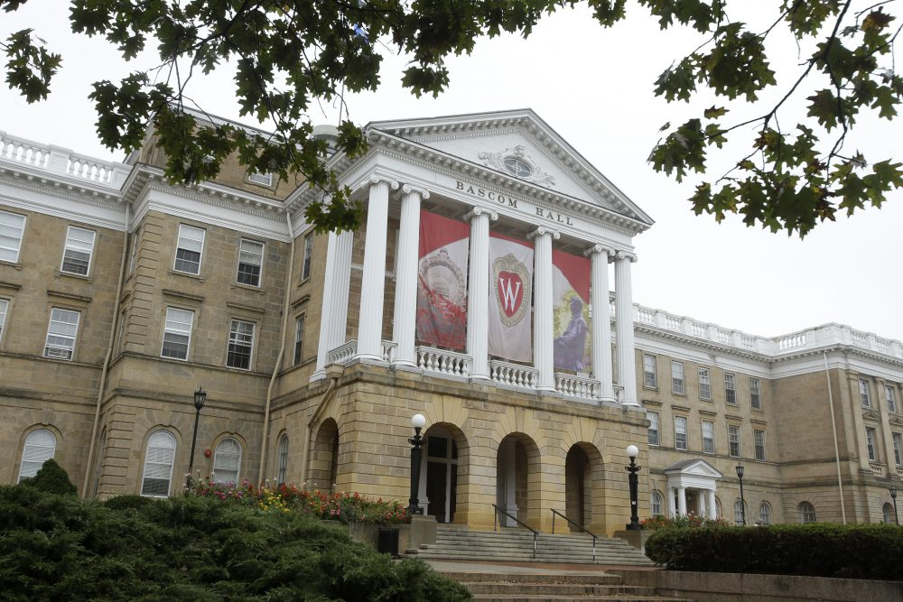 An outside view of Bascom Hall on the campus of the University of Wisconsin on Oct. 12, 2013 in Madison, Wis. (Mike McGinnis/Getty Images)