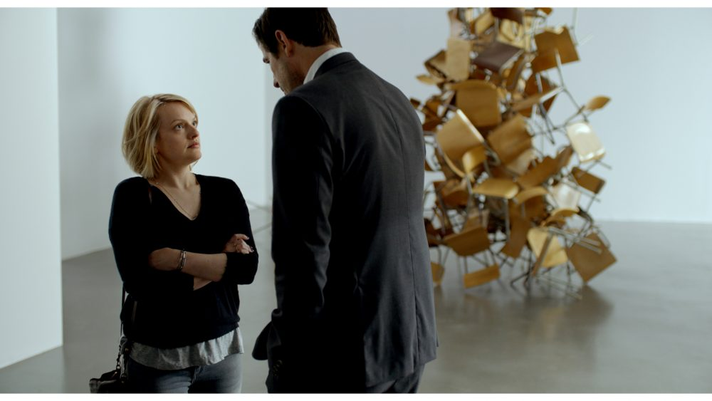 "Elisabeth Moss and Claes Bang in ""The Square."" (Courtesy Magnolia Pictures)"