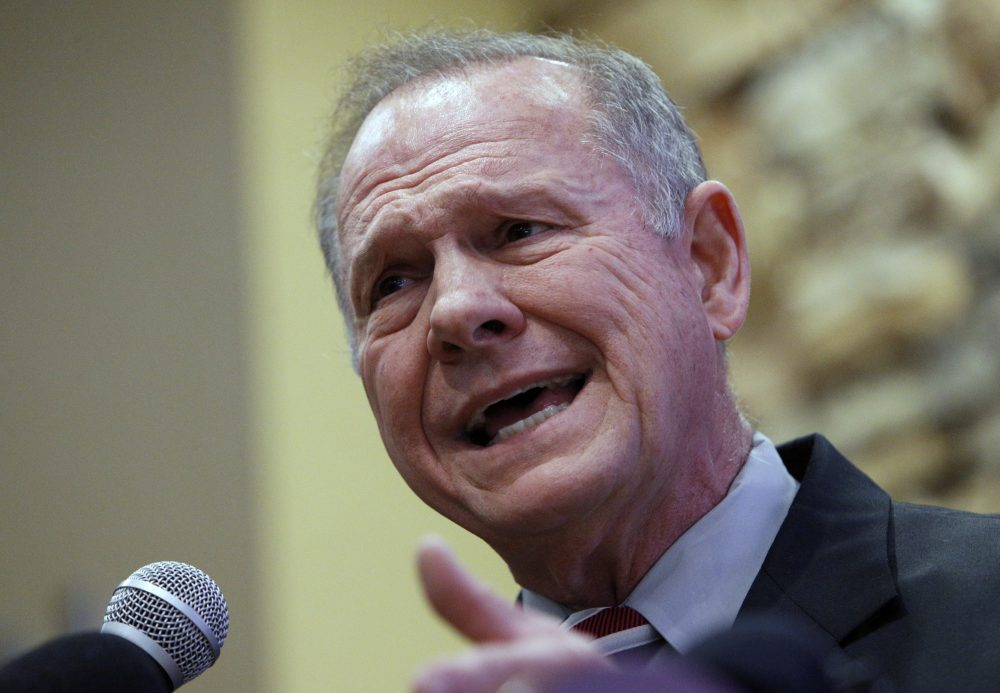 Former Alabama Chief Justice and U.S. Senate candidate Roy Moore speaks at the Vestavia Hills Public library, Saturday, Nov. 11, 2017, in Vestavia Hills, Ala. According to a Thursday, Nov. 9 Washington Post story an Alabama woman said Moore made inappropriate advances and had sexual contact with her when she was 14. Moore is denying the allegations. (Hal Yeager/AP)