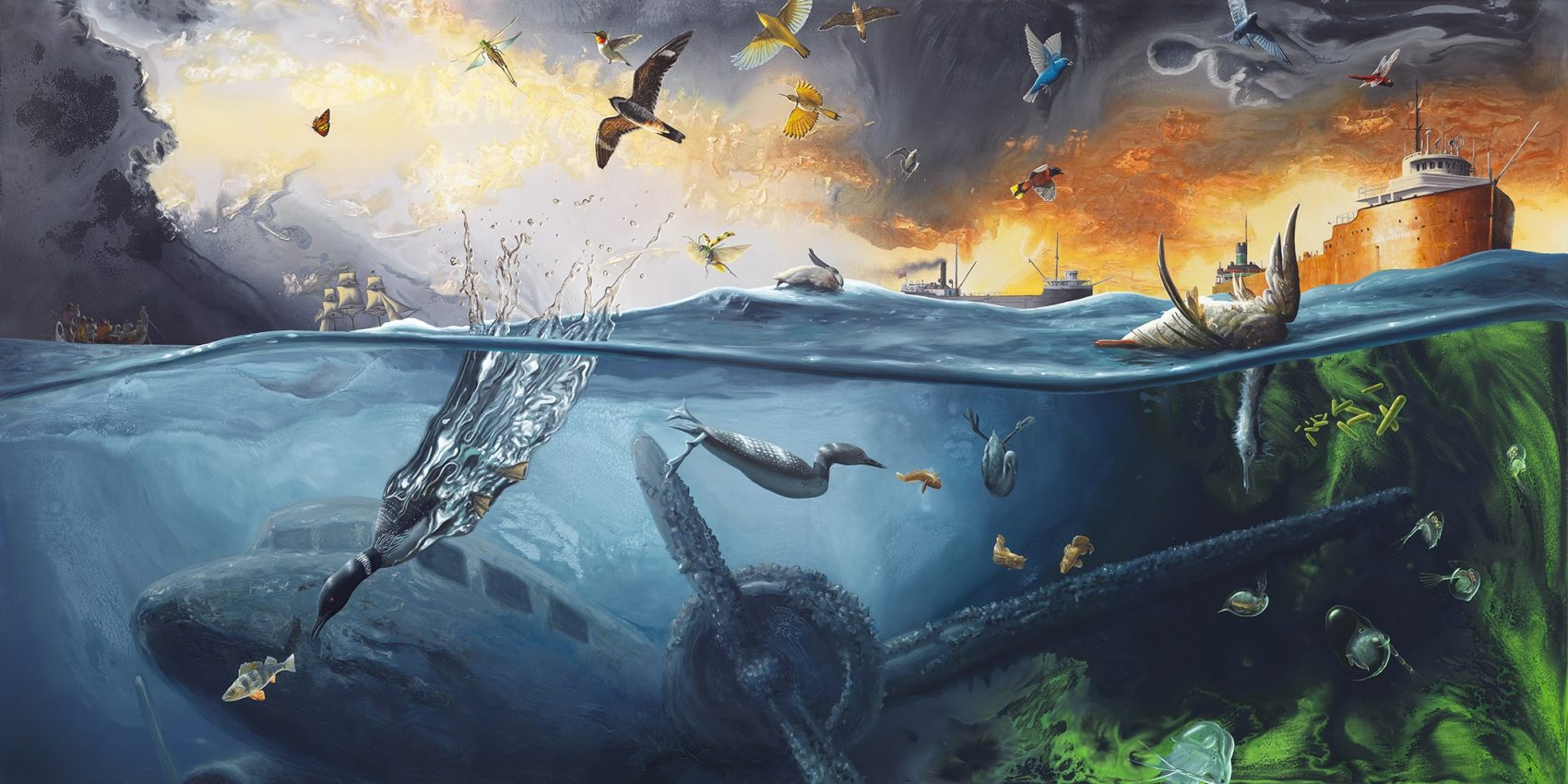 fantastical paintings illustrate great lakes ecology