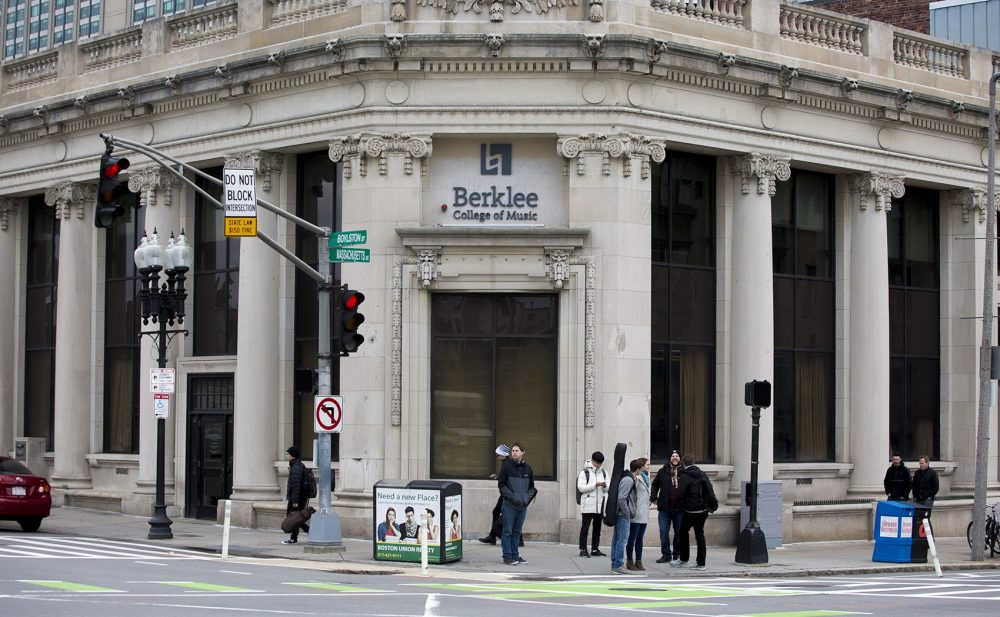 Berklee College of Music on Massachusetts Avenue in Boston. (Jesse Costa/WBUR)