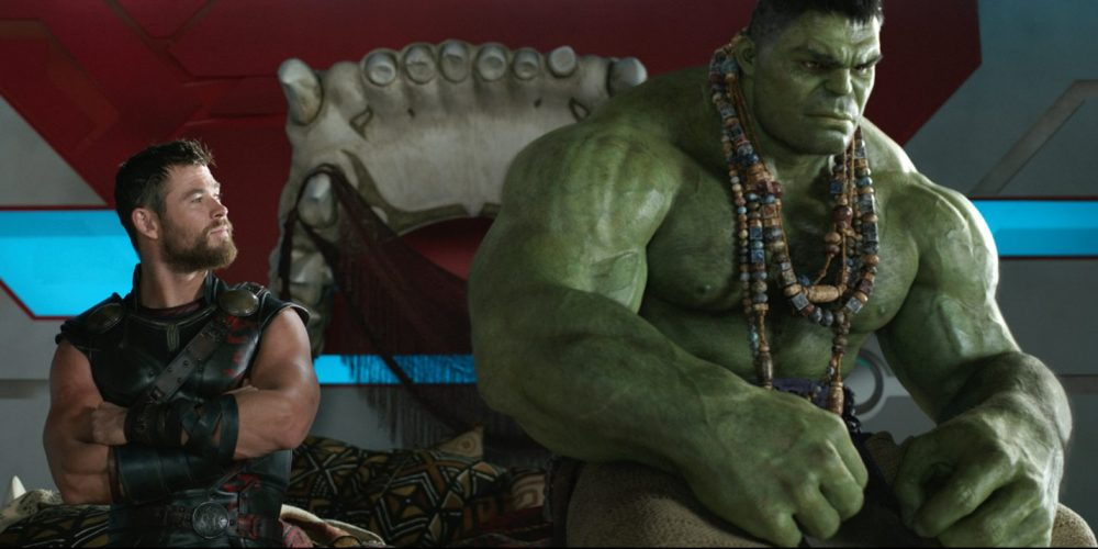 "Chris Hemsworth, as Thor, and the Hulk in a scene from, ""Thor: Ragnarok."" (Marvel Studios via AP)"