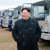 This undated photo released by North Korea's official Korean Central News Agency (KCNA) on Nov. 21, 2017 shows North Korean leader Kim Jong Un at the Sungri Motor Complex in South Pyongan Province. (STR/AFP/Getty Images)