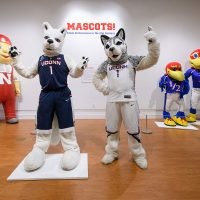 """Mascots! Mask Performance in the 21st Century,"" an exhibit at the Ballard Institute and Museum through Feb. 11. (Courtesy Ballard Institute and Museum)"
