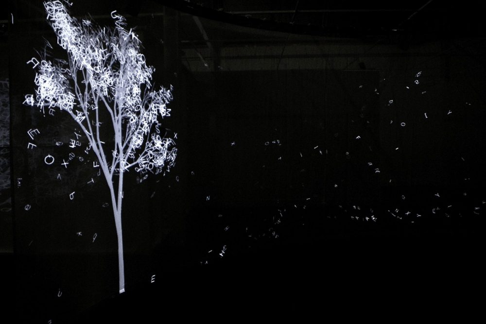 """Letters Tree"" by Adrien Mondot and Claire Bardainne. (Courtesy of Adrien M. & Claire B.)"