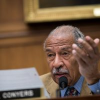 Rep. John Conyers (D-Mich.) questions witnesses during a House Judiciary Committee hearing concerning the oversight of the U.S. refugee admissions program, on Capitol Hill, Oct. 26, 2017 in Washington, D.C. (Drew Angerer/Getty Images)