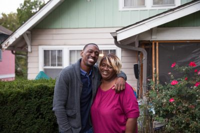 Lamonte McIntyre and his mother Rosie. (Dean Russell/Here & Now)