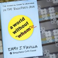 """A World Without 'Whom,'"" by Emmy J. Favilla. (Robin Lubbock/WBUR)"