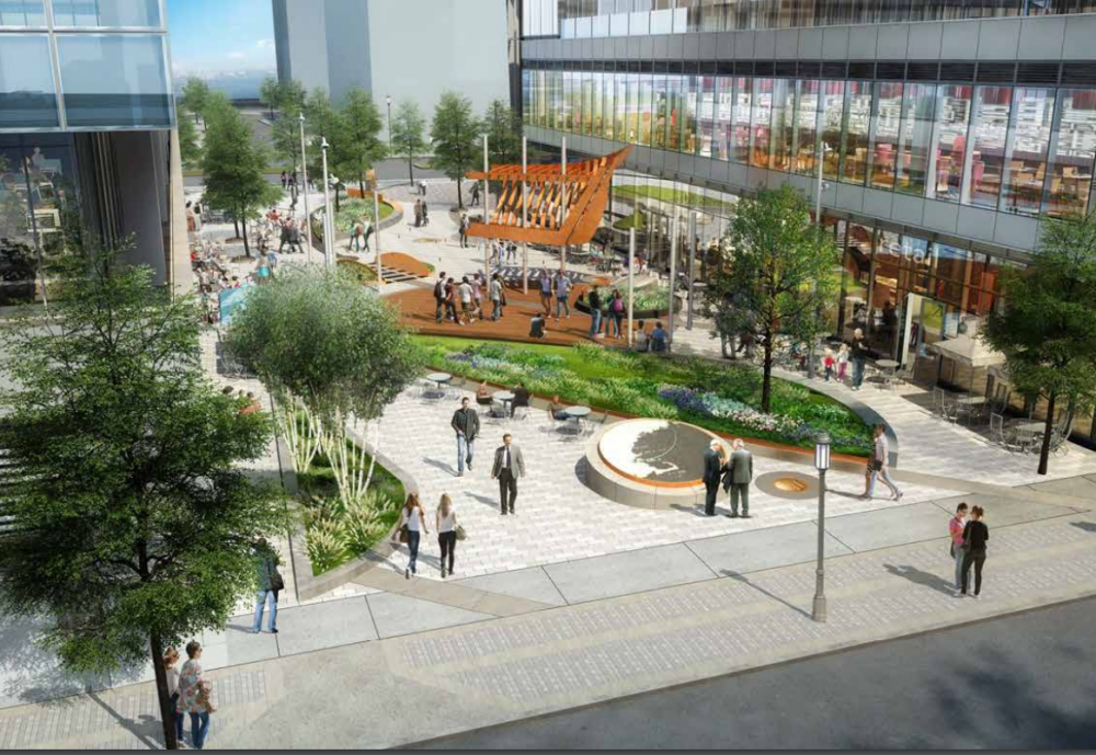 An artist's rendering of part of Seaport Square (Courtesy WS Development)