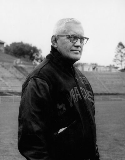 Syracuse head football coach Ben Schwartzwalder. (Courtesy Syracuse University Press)