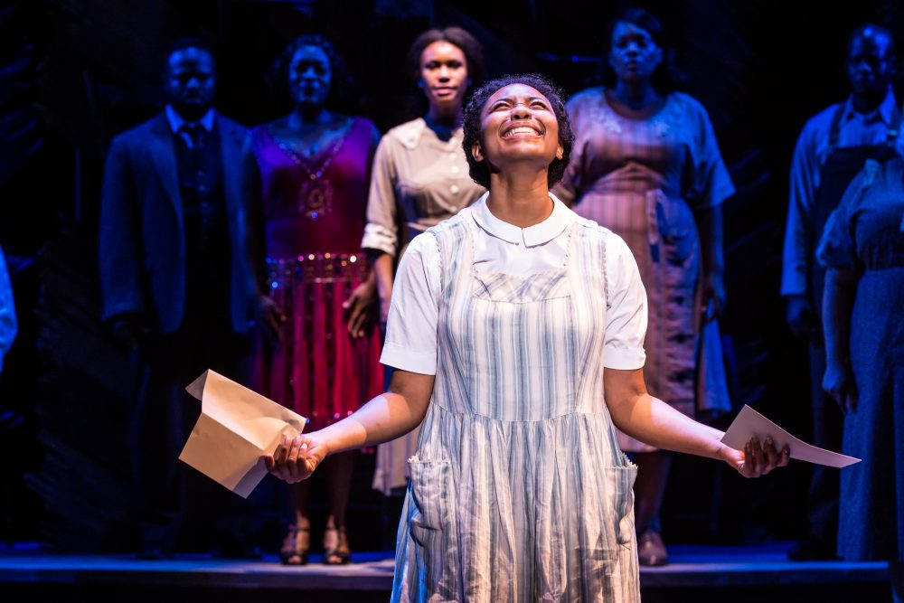 Adrianna Hicks as Celie. (Courtesy Matthew Murphy/Boch Center)